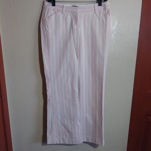 #87 Body By Victoria Flare Pinstriped Boho Pants